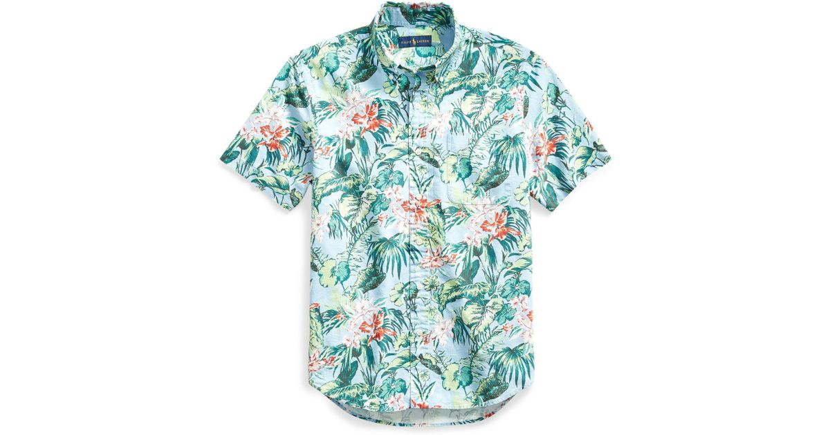 Lyst - Polo Ralph Lauren Classic Fit Hawaiian Shirt in Blue for Men 8be1a36de