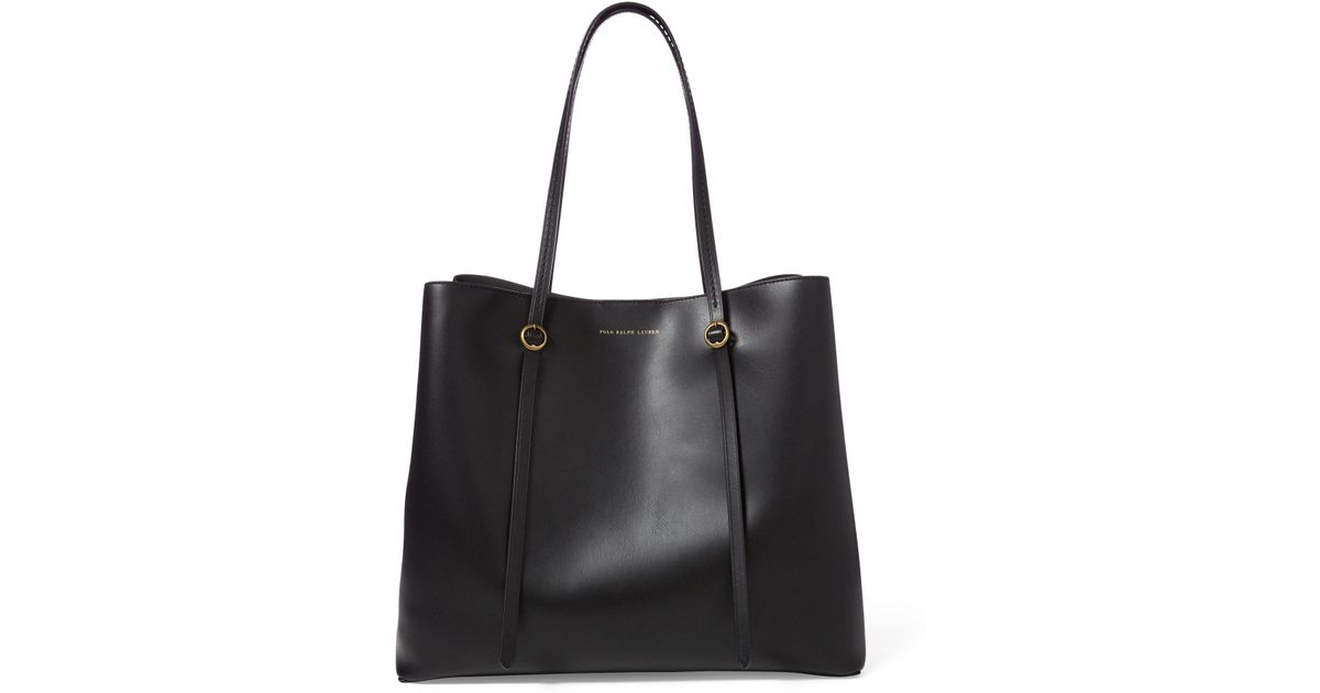 a40d7befcfcb Lyst - Polo Ralph Lauren Leather Lennox Tote in Black