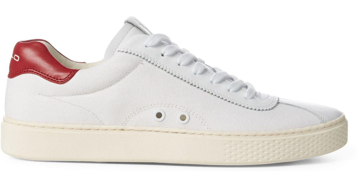 For Ralph White Cuir Court Polo Men Baskets 100 Lauren Lyst n0OwXN8PZk