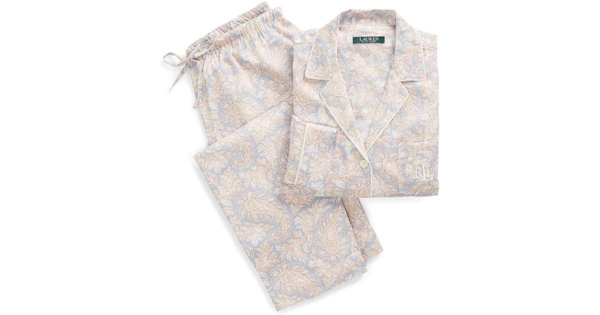 Lyst - Ralph Lauren Floral Sateen Sleep Set 6a26b747f