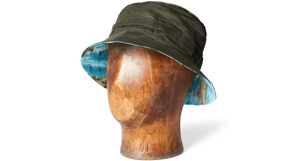 2a88f88230e Rrl Reversible Packable Bucket Hat in Green for Men - Lyst