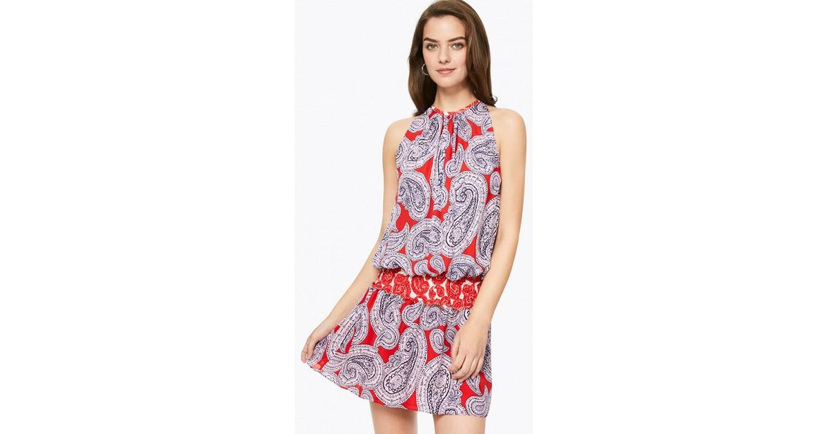 ca21dfb00a3a36 Lyst - Ramy Brook Printed Paris Sleeveless Dress in Red