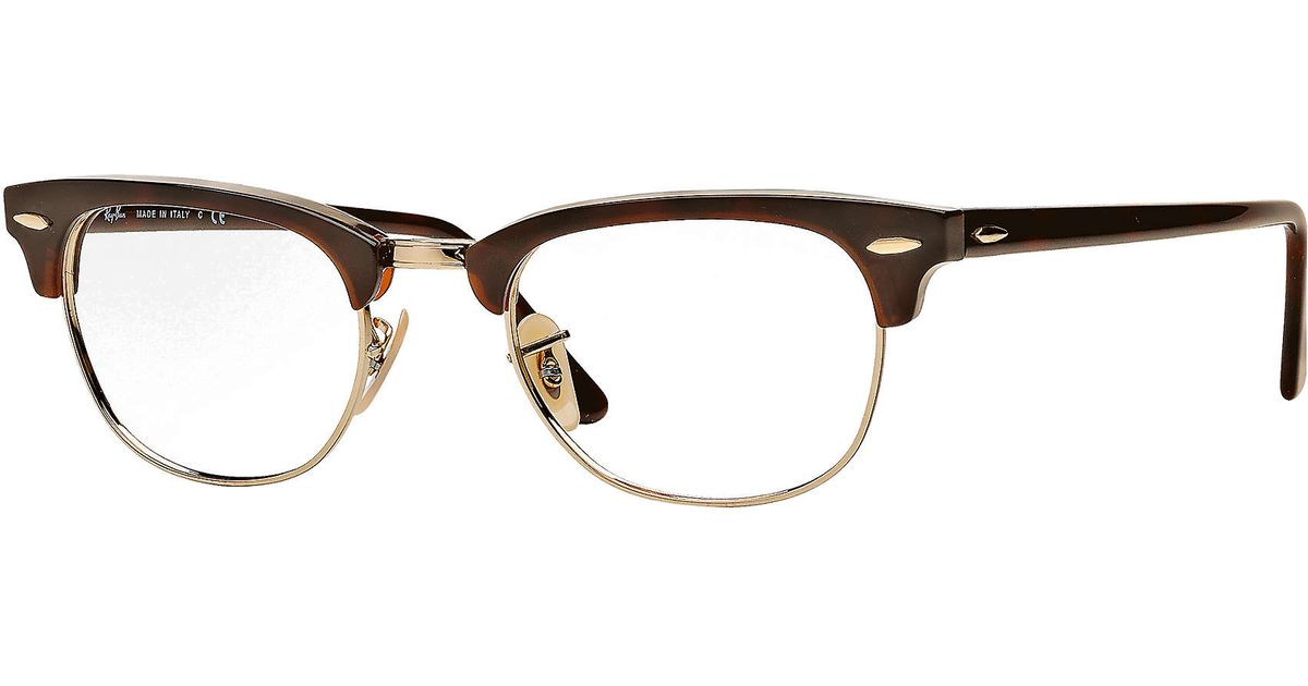 3024a9effe8 ... usa lyst ray ban clubmaster optics in brown for men 004ce fcc8a
