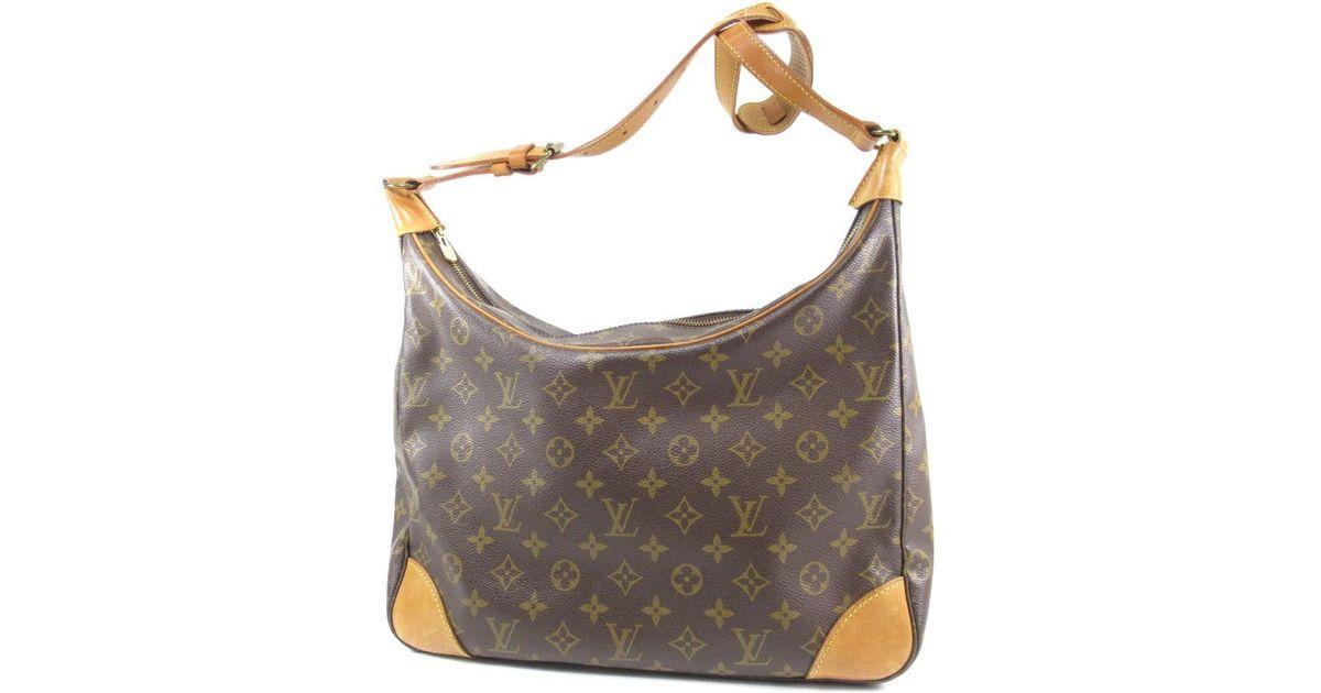 251e00df38cf Lyst - Louis Vuitton Monogram Canvas Shoulder Bag M51265 Boulogne 30 in  Brown