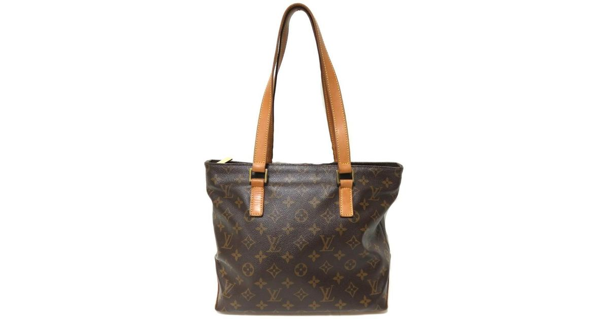Lyst - Louis Vuitton Authentic Cabas Piano Tote Shoulder Bag M51148 Used  Vintage in Brown 9f78e40737b9f