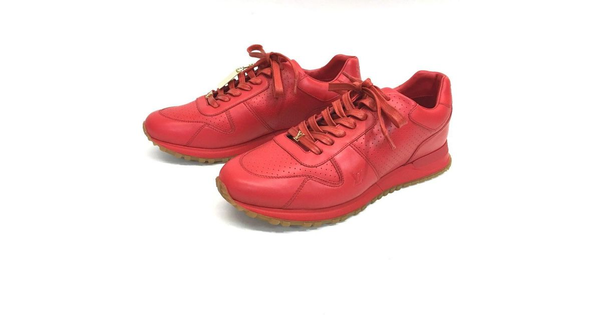b697a8957bdf Lyst - Louis Vuitton Unused!! Xsupreme 17aw  supreme Run Away Sneaker in  Red for Men
