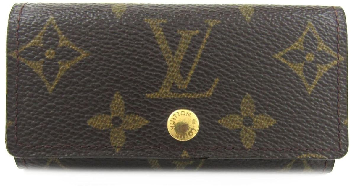 9708ccc40386 Lyst - Louis Vuitton Multicles 4 Key Holder Monogram Canvas M62631 in Brown