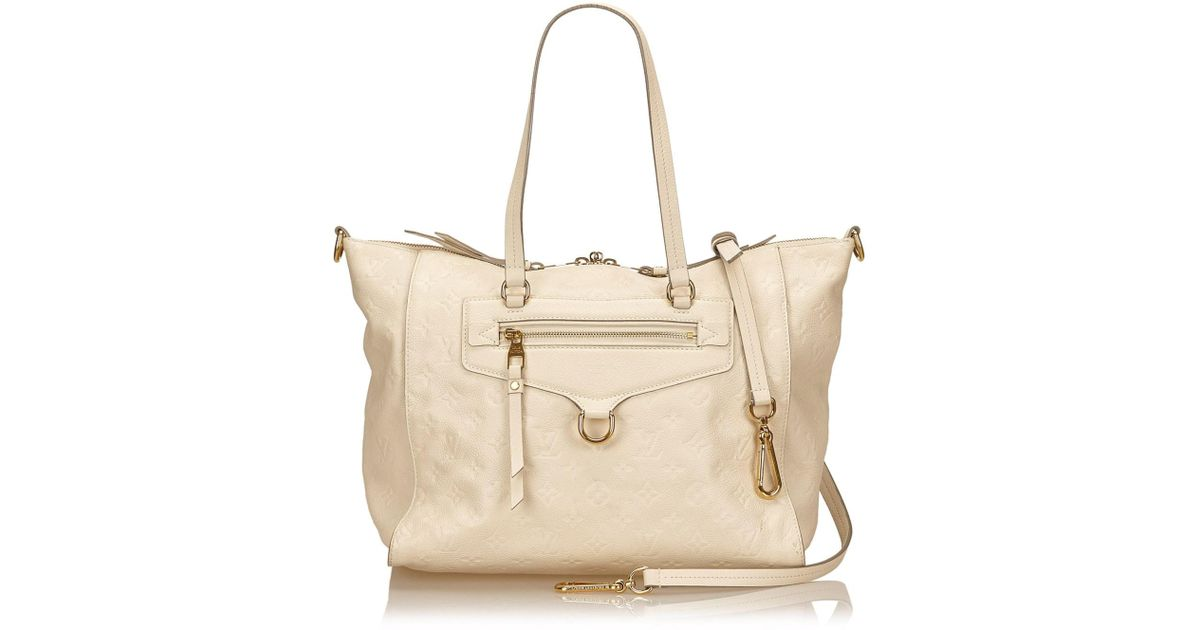 Lyst - Louis Vuitton Monogram Empreinte Lumineuse Pm in White 2e2d9c2e3587f