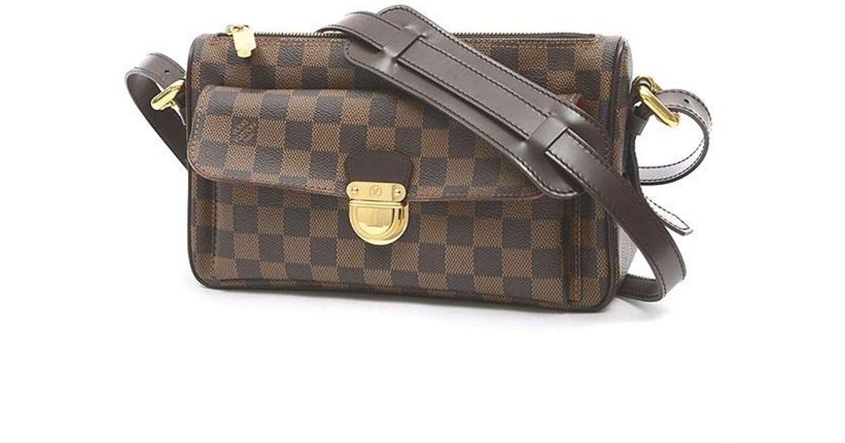457da293a9d1 Lyst - Louis Vuitton Damier Ravello Gm Shoulder Bag Long Strap N 60006 in  Brown