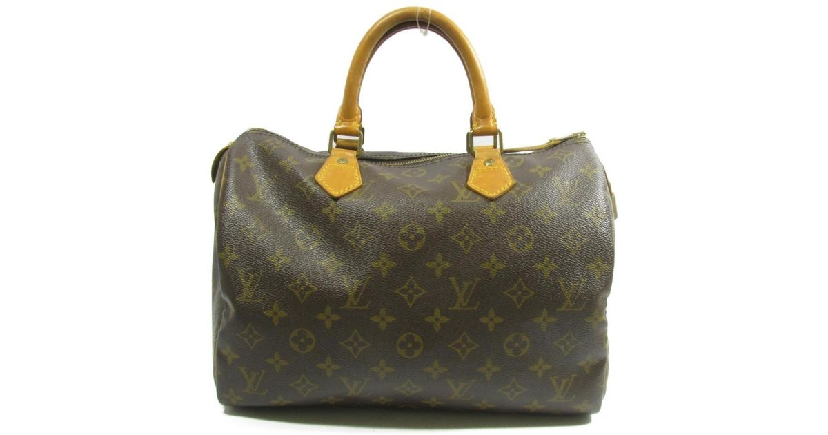 13f5fbccee75 Lyst - Louis Vuitton Authentic Speedy 30 Handbag M41526 Monogram Used  Vintage in Brown