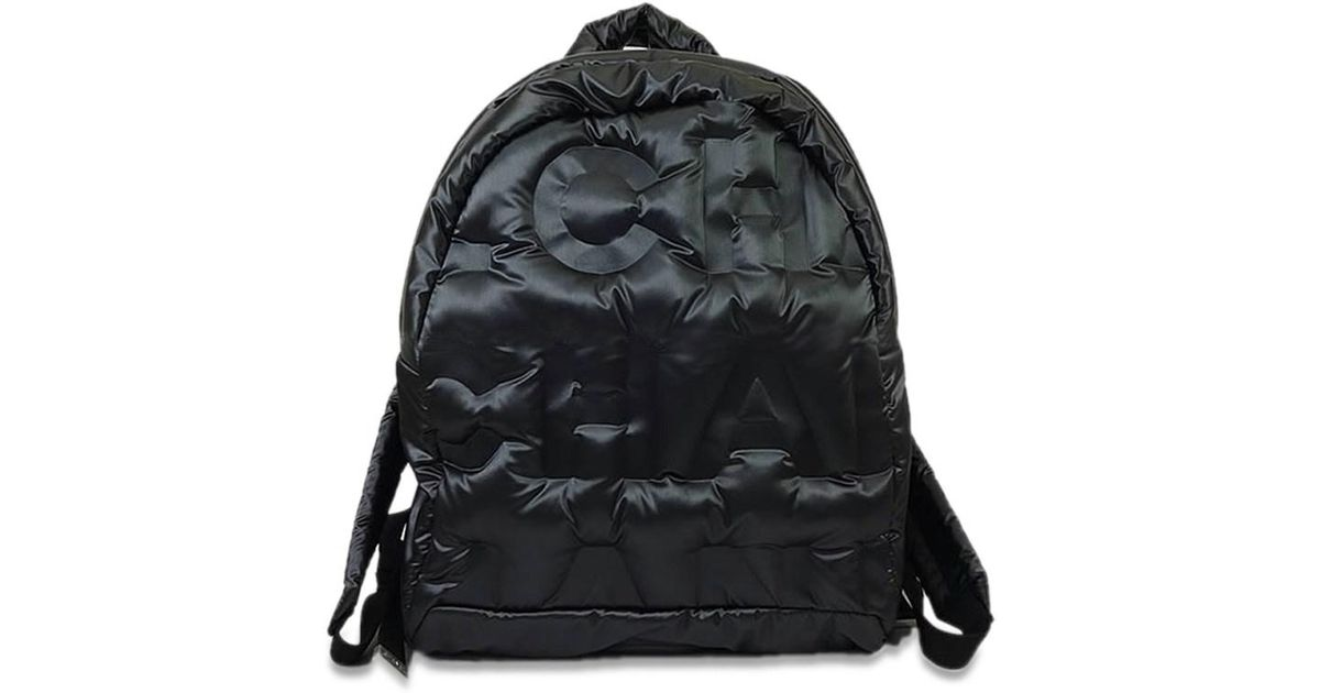 835b3acec44a Chanel 2017aw New Doudoune Backpack Rucksack Small Black Embossed Nylon  A91933 [brand New][authentic] in Black - Lyst