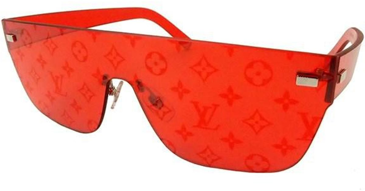 630166c3c4 Lyst - Louis Vuitton City Mask Monogram Sunglasses Red  new  in Red