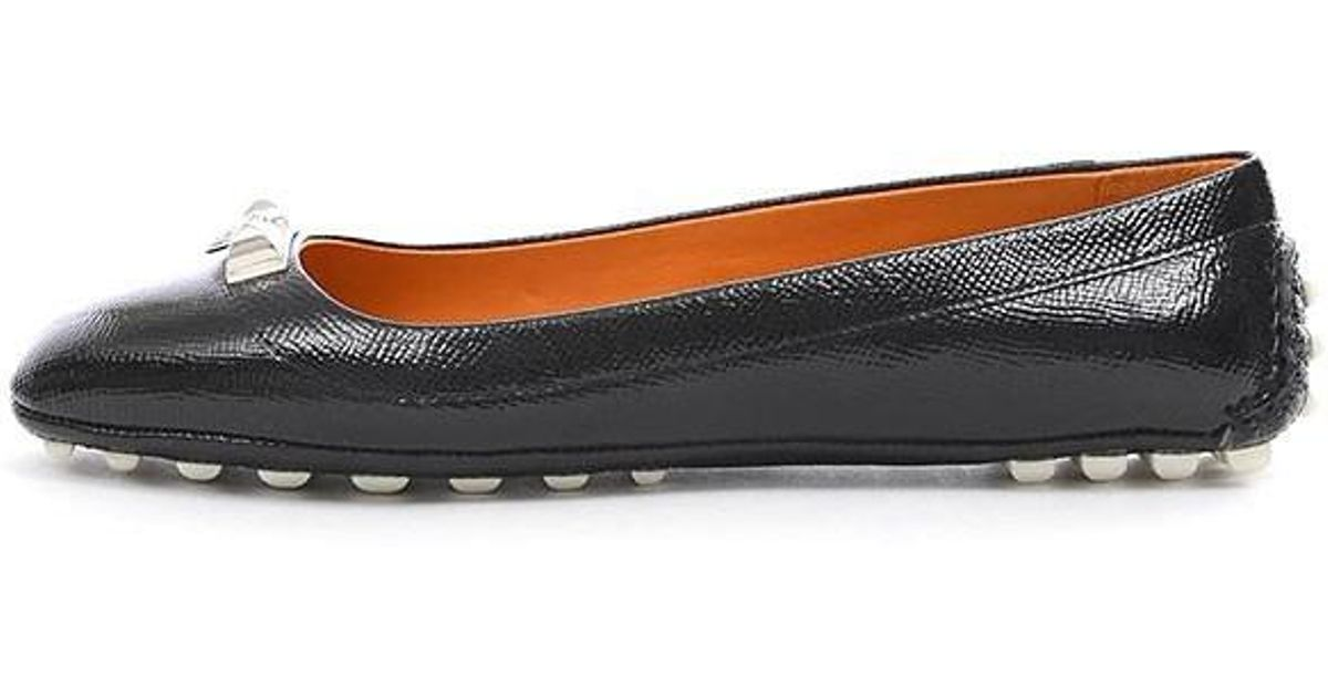 b61cbb16a6ca ... lyst hermès medor driving shoes flat shoes womens black 36 1 2 ...
