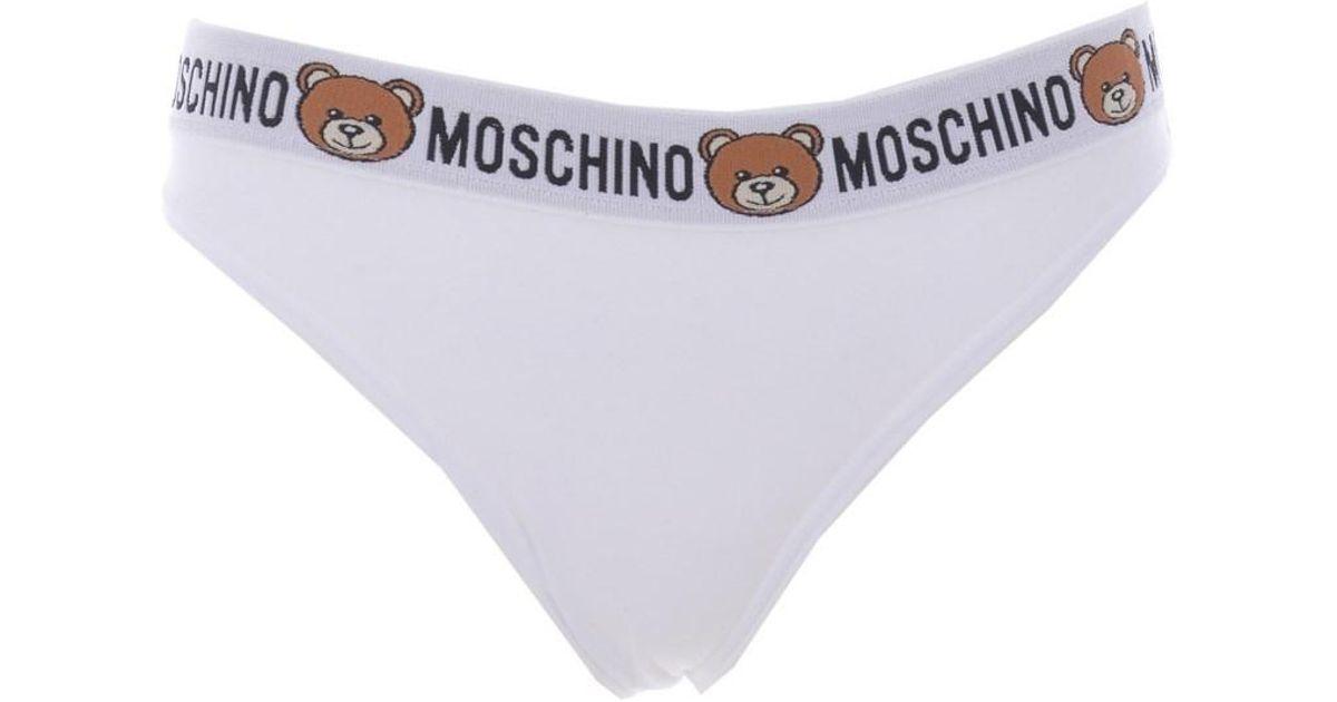 665c7abe3baf8 Lyst - Moschino Underwear Underwear Bianco in White