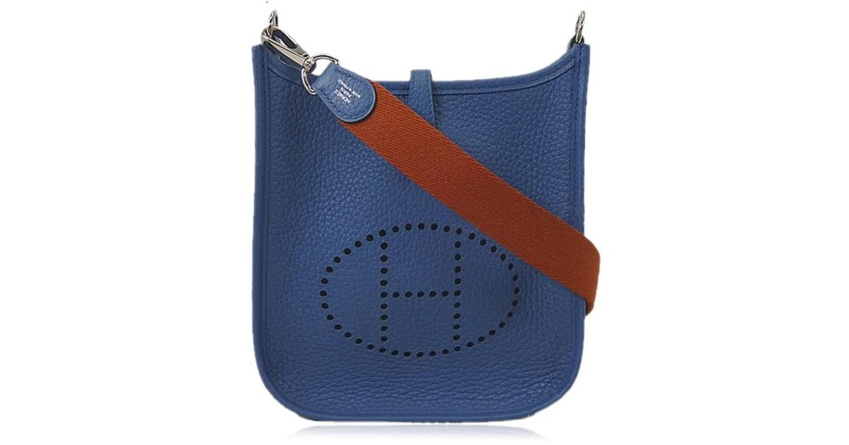 9b16e77357d Hermès Shoulderbag Mini Evelyne Tpm Amazon Bleu Agate/cuivre Taulillon  Clemence Shw[never Used][authentic] in Blue - Lyst
