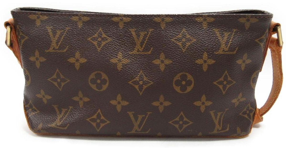 218361cc1e4c Lyst - Louis Vuitton Trotteur Shoulder Bag Monogram Canvas Brown M51240 in  Brown