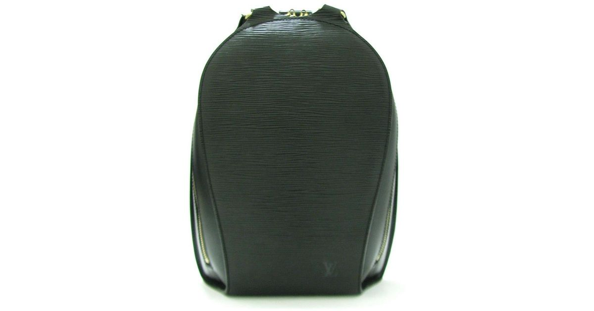3e1797061084 Lyst - Louis Vuitton Epi Mabillon Backpack Style Bag Black Leather M52232  in Black