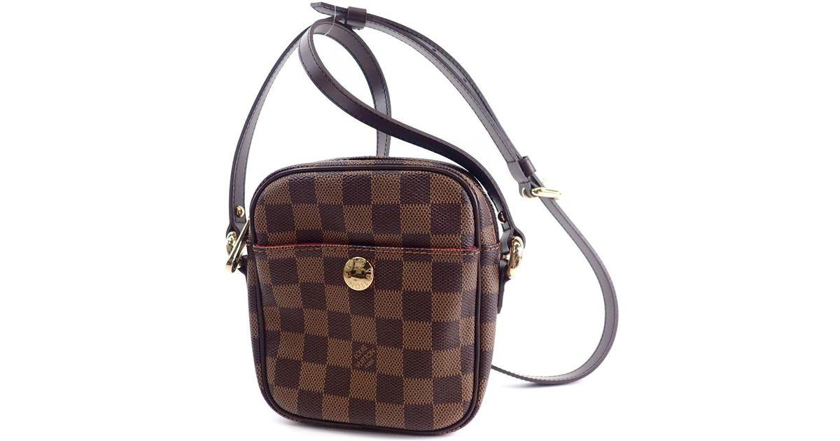 db2ad33f28a7 Lyst - Louis Vuitton Damier Canvas Shoulder Bag Lift N 60009 in Brown