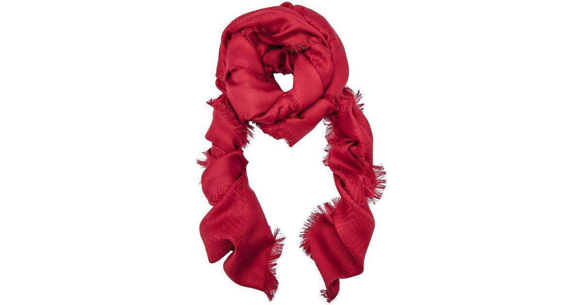 475d492dc2f Lyst - Fendi Signature Shawl in Red