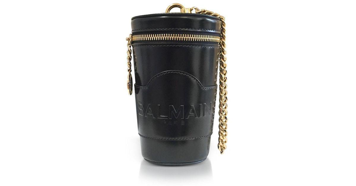 22a958c7 Lyst - Balmain Black Mini Star Crossbody Bag in Black