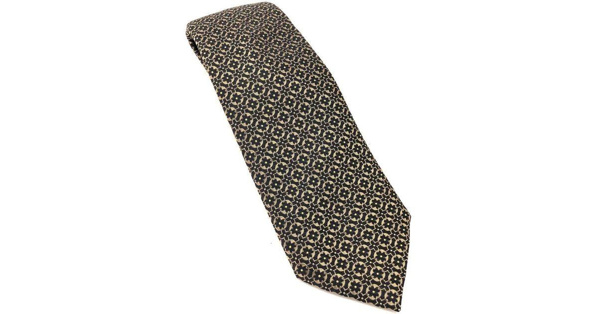 9ecc2324345e Lyst - Louis Vuitton Cravatt - Monogram Flower Necktie Gold/black Silk in  Black for Men