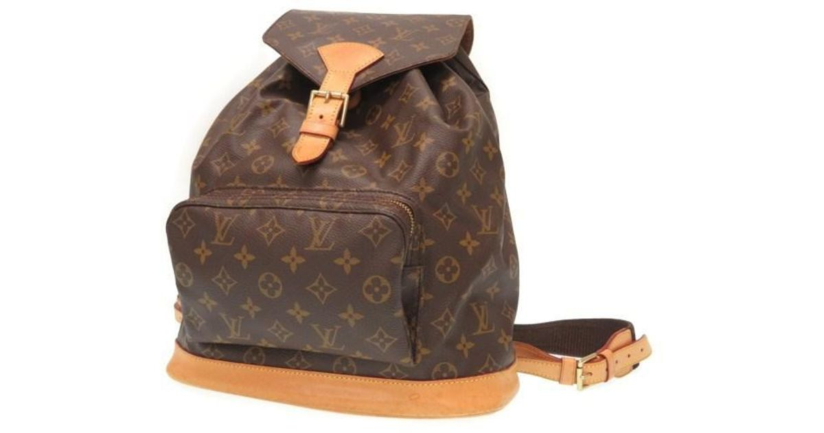 d9bf8594734a Lyst - Louis Vuitton M51135 Monogram Montsouris Gmbackpack - Daypack Brown  Monogramcanvas Lv 0500 in Brown