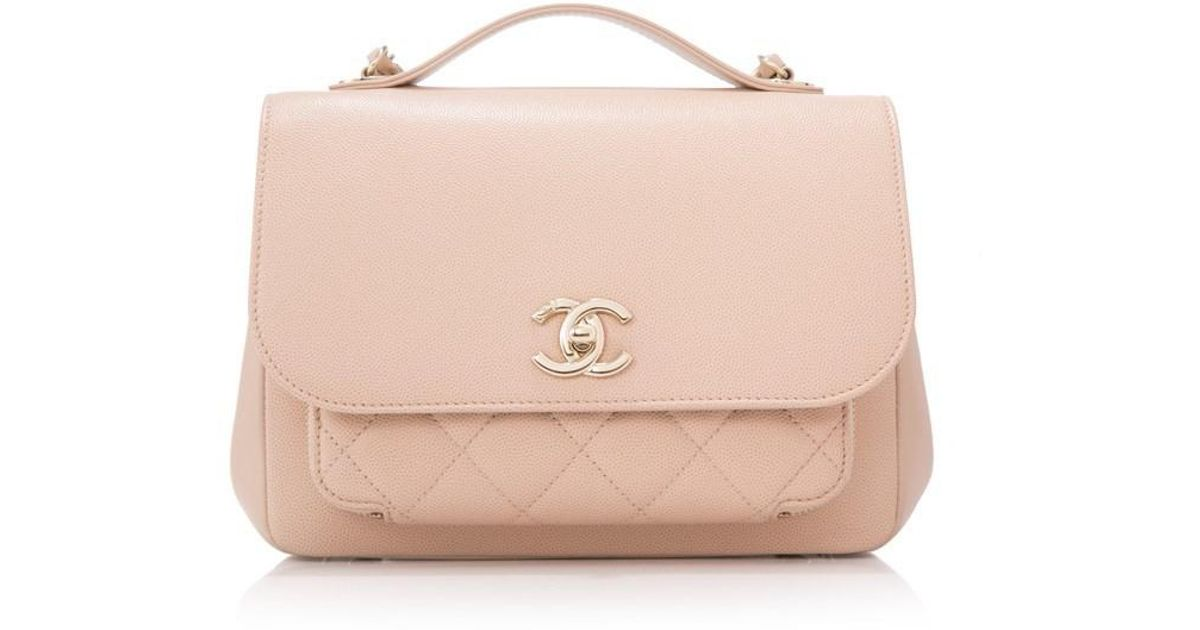 ce8040303917 Chanel Pre-owned Business Affinity Small Flap Bag in Natural - Lyst