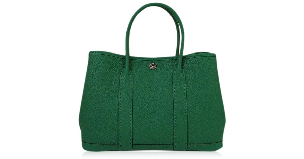 dc554c38be9e ... leather kelly bag 93866 f4cfb  ireland lyst hermès handbag garden party  30 tpm vert vertigo negondabrand newauthentic in green 59cd2 20763