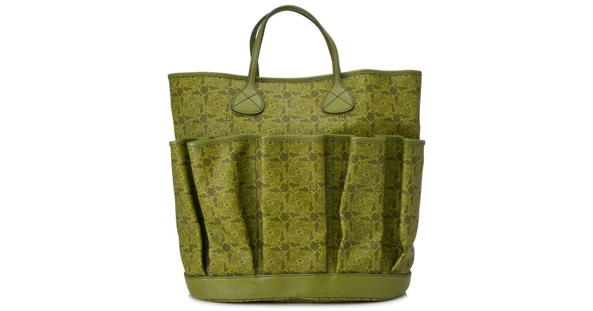 4669b34c0f Lyst - Céline Pre-owned Céline Printed Tote in Green
