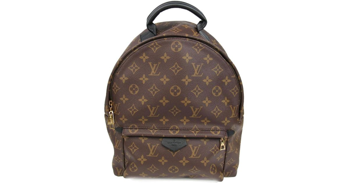 eb294e83dff9 Lyst - Louis Vuitton Palm Springs Backpack Mm Back Bag Monogram Canvas  M41561 in Brown