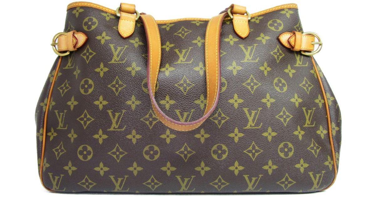 e40aa81136fa3 Lyst - Louis Vuitton Auth Monogram Batignolles Horizontal Shoulder Tote Bag  M51154 in Brown