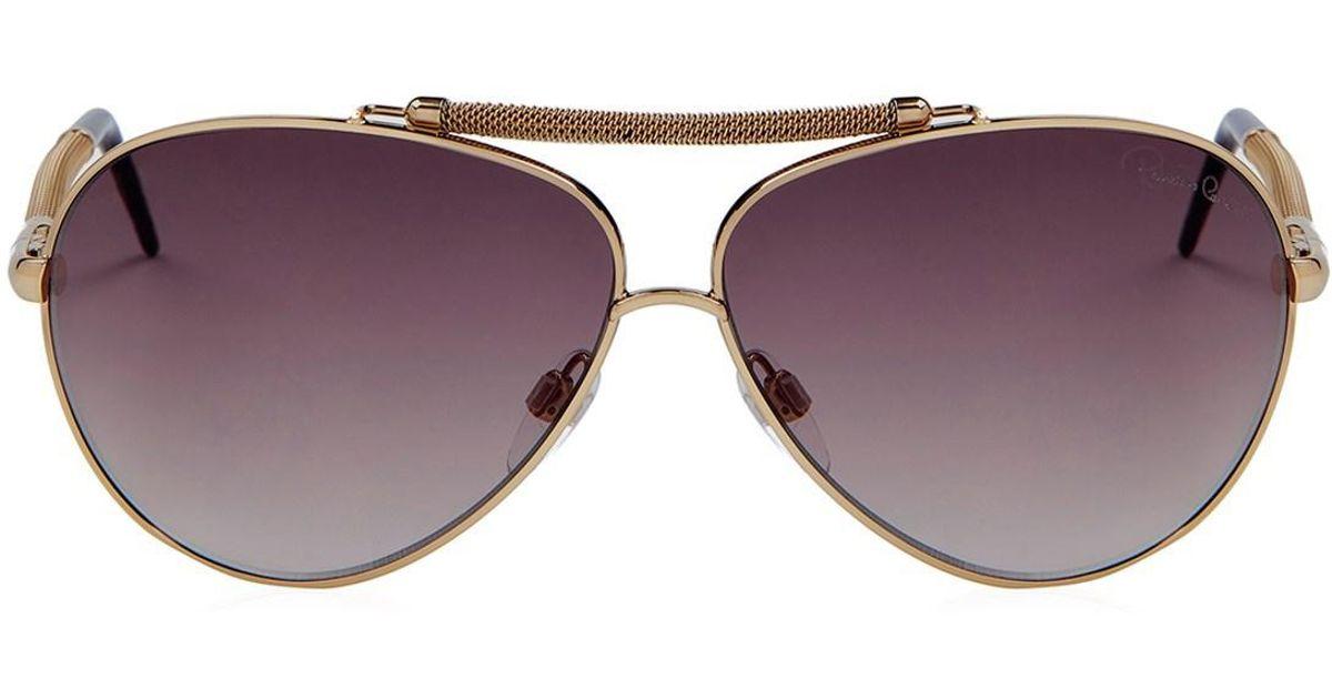 a4e695050870 Lyst - Roberto Cavalli Sunglasses Gold Rc 849s s in Metallic for Men