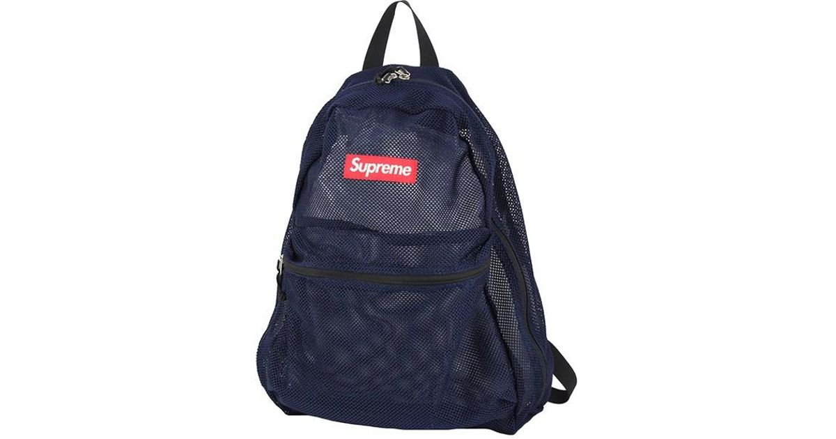 ed975b828dfb Lyst - Supreme Mesh Backpack Box Logo Navy  unused  in Blue