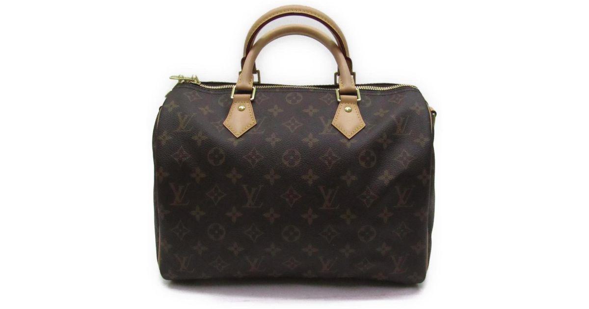 3e40e721e951 Lyst - Louis Vuitton Speedy Bandouliere 30 Hand Bag Monogram Canvas Brown  M41112 in Brown