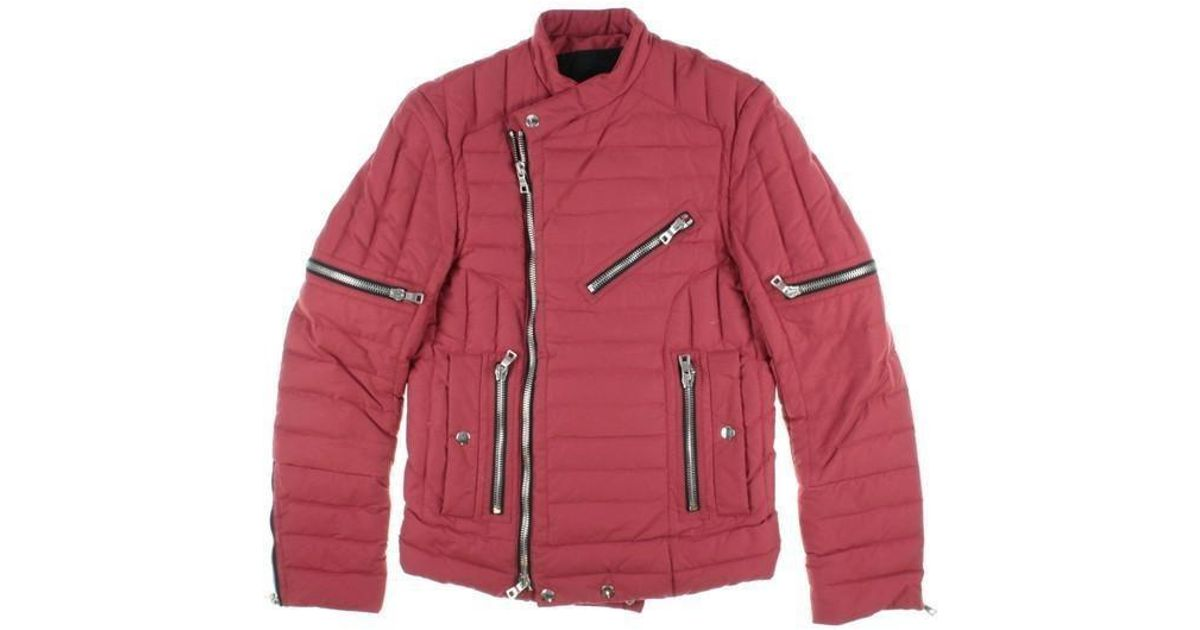 33cf51a9cea Lyst - Balmain Down Jacket  Down Vest Red M in Red for Men