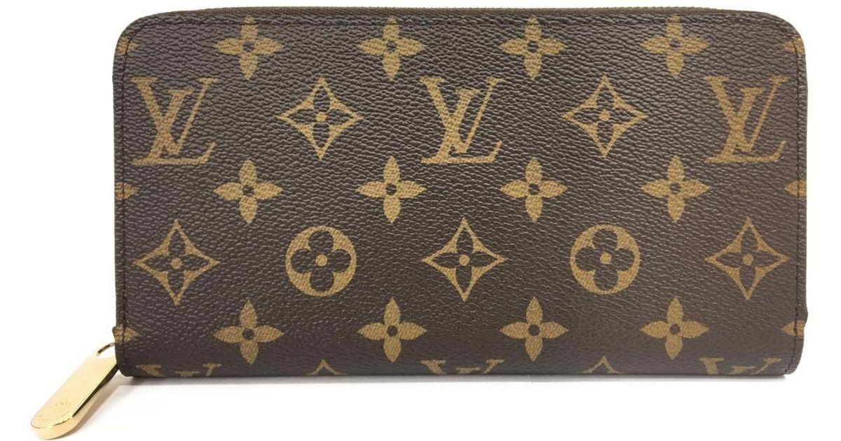 dad707c2b2df Lyst - Louis Vuitton Monogram Brown Zippy Rround Wallet M42616 in Brown