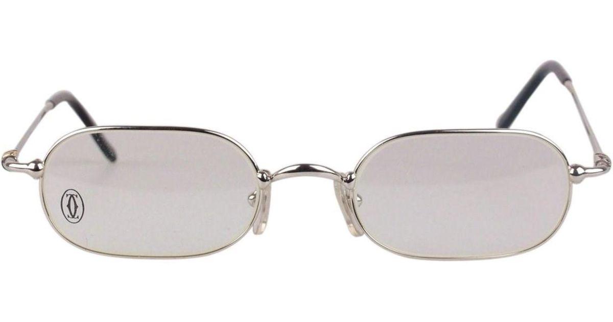 ee16362ba113 Lyst Cartier Paris Eyeglasses T8100367 Optical Frame 50 21 140