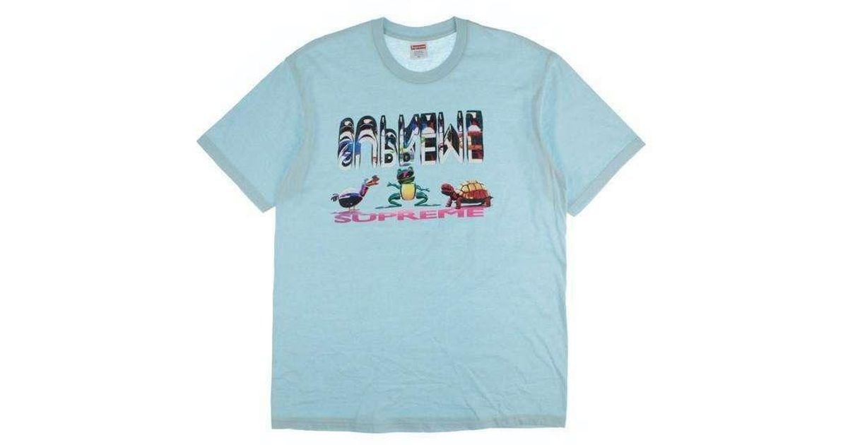 e26e528f Lyst - Supreme T Shirt Blue M in Blue for Men