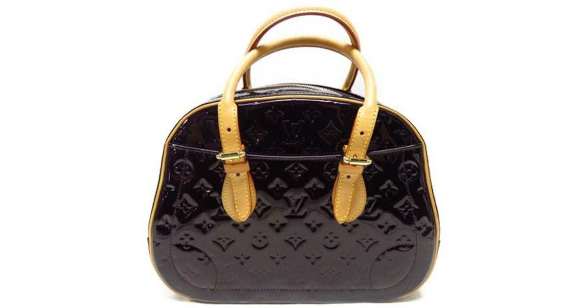 Lyst - Louis Vuitton Monogram Vernis Summit Drive Hand Tote Bag Amarante  M93516 in Purple e9cd8f22d8db1