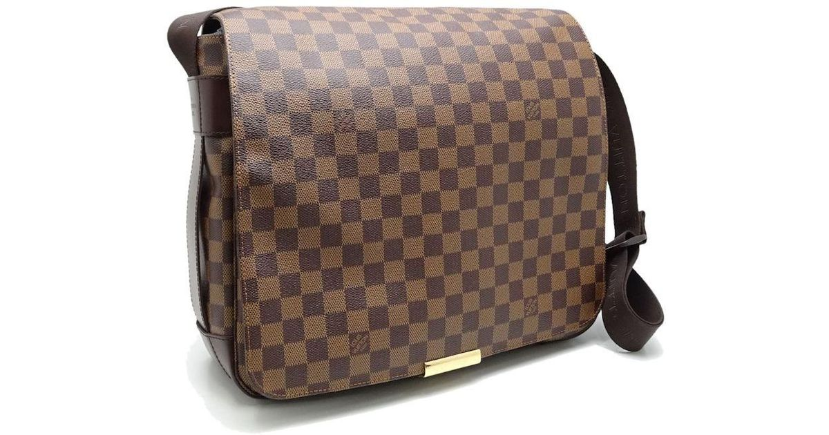 6a33765cad10 Lyst - Louis Vuitton Damier Bastille Shoulder Bag Crossbody N45258 Ebene   59845 in Brown