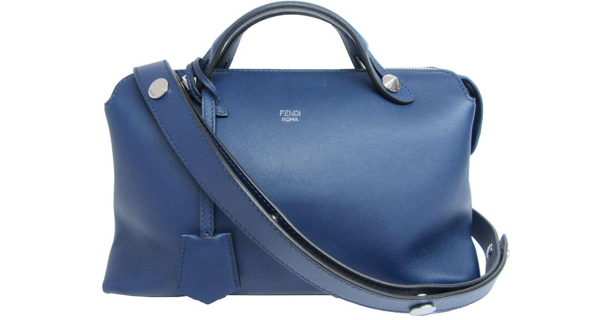 174dc2044a6 Fendi Auth By The Way Shoulder Hand Bag Blue Leather 8bl124 Used Vintage in  Blue - Lyst