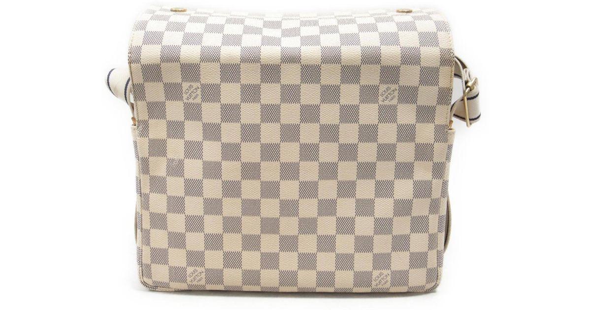 Lyst Louis Vuitton Damier Azur Naviglio Shoulder Crossbody Bag