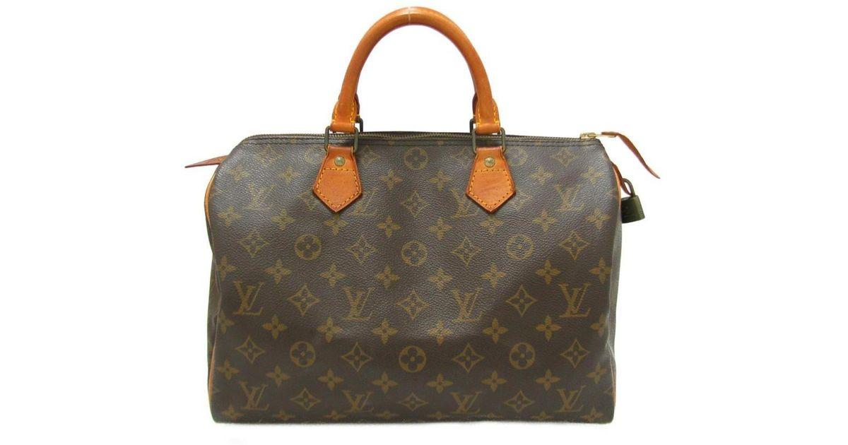 2b2f2088768a Lyst - Louis Vuitton Auth Speedy 30 Boston Bag Handbag M41526 Monogram Used  in Brown for Men