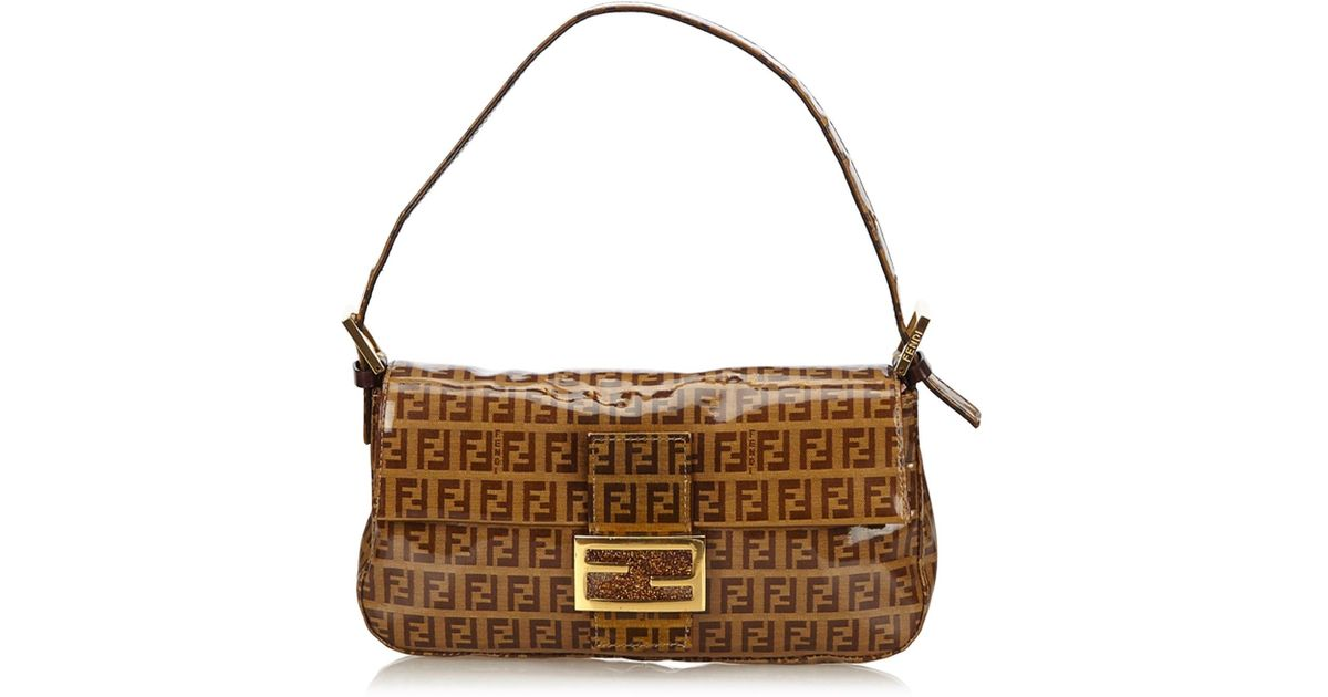 Lyst - Fendi Zucchino Baguette in Brown cb56f3e37301c