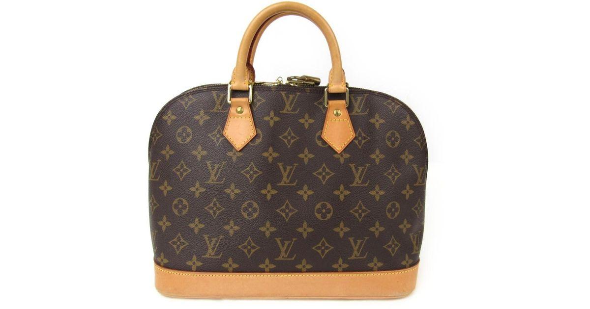 69fab3c351f6 Lyst - Louis Vuitton Alma Pm Handbag Bag Monogram Canvas M51130 in Brown