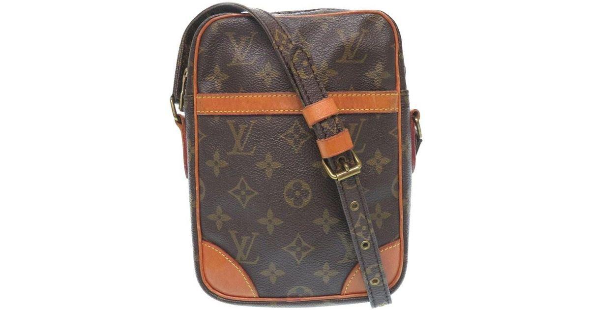 8ecfc1d0ffff Lyst - Louis Vuitton M 45266 Danubeshoulder Bag Brown Monogramcanvas Lv  0093 in Brown