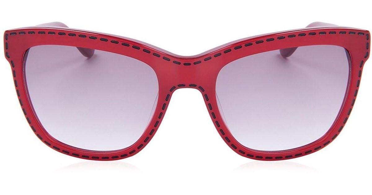 b5e570a84e1 Lyst - Moschino Sunglasses Red Mo759s04sa in Red