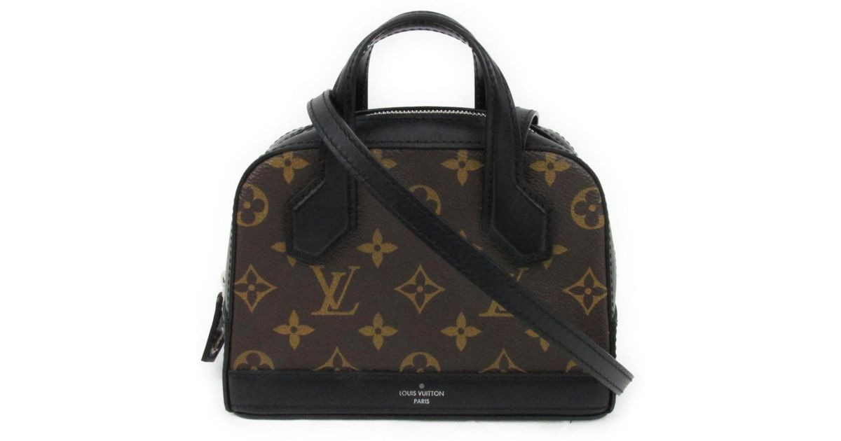 b1c701d5e8 Lyst - Louis Vuitton Nanodora Shoulder Crossbody Bag M41697 Monogram Canvas  in Brown