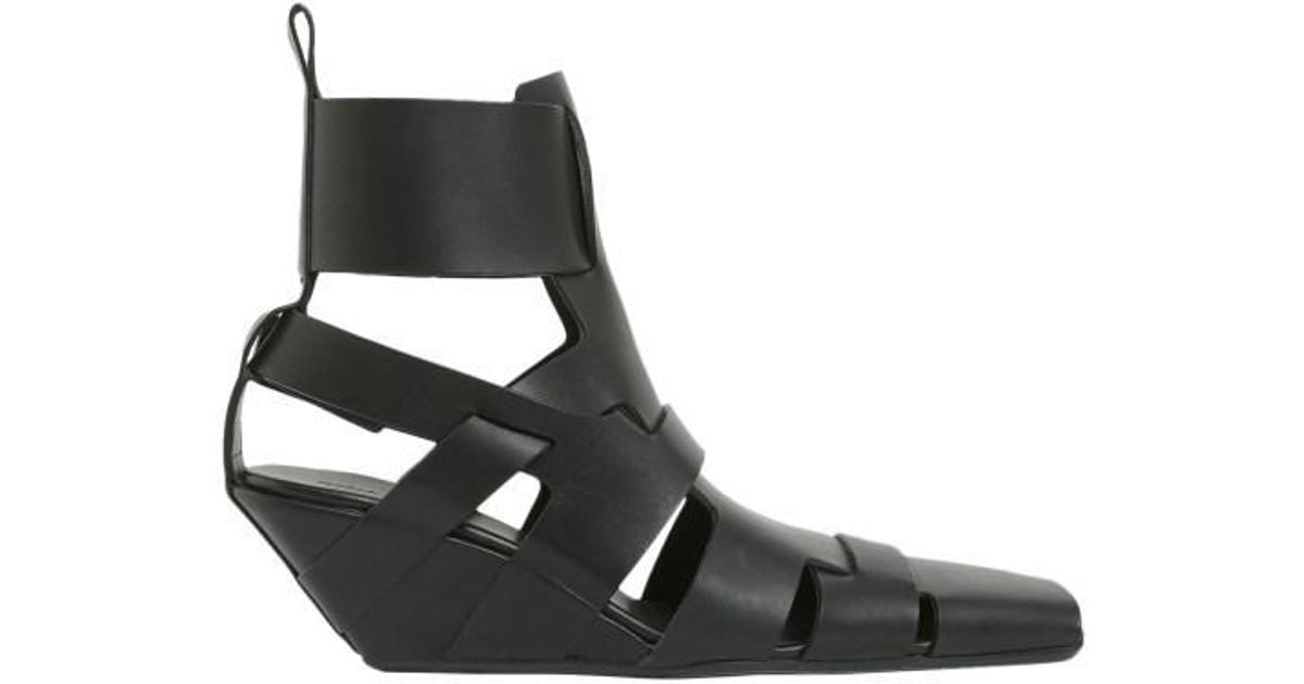 61db1eec5b Lyst - Rick Owens Lazarus Sandals in Black - Save 61%