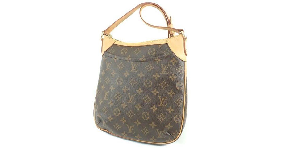 df021a7477e Louis Vuitton - Brown Monogram Canvas Shoulder Bag M56390 Odeon Pm - Lyst